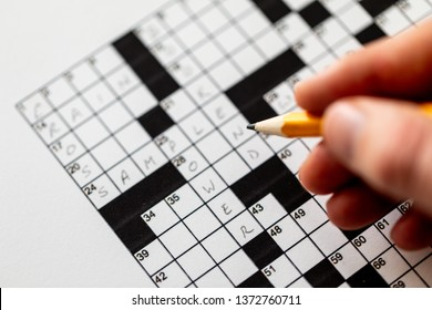 Black and white crossword puzzle that needs to be solved