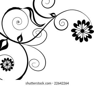black and white design ornament illustration