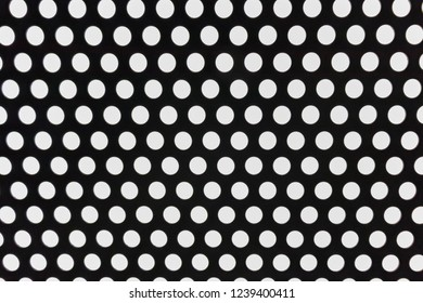 Black and white doted architecture abstract background.
