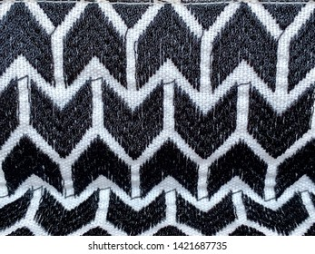 Black and white fabric pattern