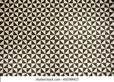 schwarz-weißer Fußboden