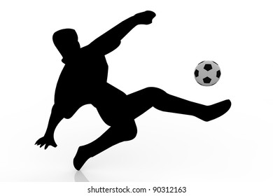Black and white football player