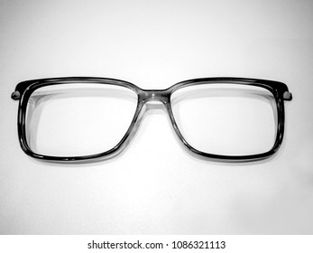 fcfc5699bfcc Black and white front of a pair of eyeglasses