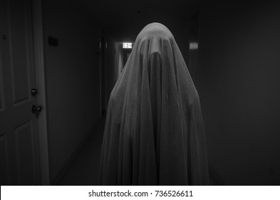 black and white ghost concept for halloween