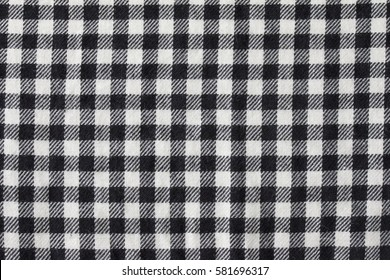 black and white gingham checked fabric texture.knitted pattern.