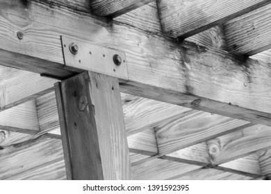 Black and white give moodiness to the hard wood and metal bolts. Great wood element image for feng shui. Money luck wood growth, which feeds fire element for good fortune.