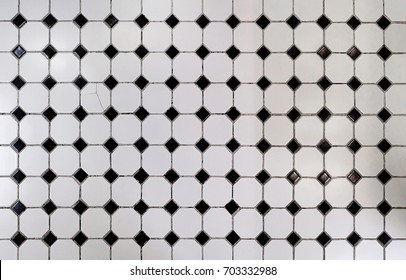 black and white glossy ceramic brick tiles floor texture, Abstract Shiny Flooring Tile Glass in Monotone Mix Black White Mosaic Square Seamless Pattern Background Texture for Interior Design Style