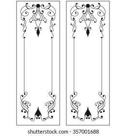 Black and white graphic ornament for doors and windows