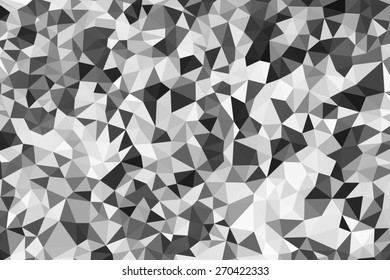 Black, White and Grey Low Poly Style Abstract Background