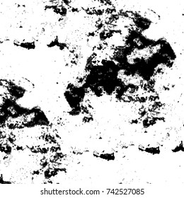 Black and white grunge background. Abstract monochrome texture old. Vintage dirty pattern of cracks and stains