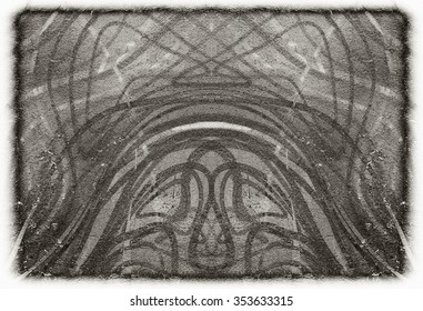 Black and white grunge paper texture background