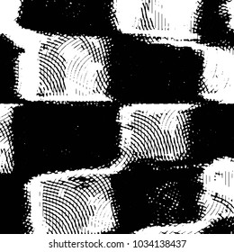 Black and white grunge stripe line background. Abstract halftone illustration background. Grunge grid background pattern