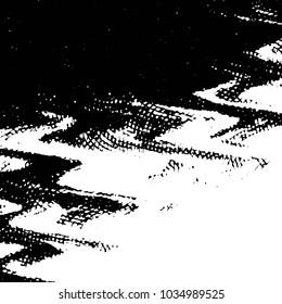 Black and white grunge stripe line background. Abstract halftone illustration background. Grunge grid background pattern