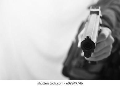 black and white gunman shot