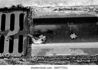 Black and white gutter