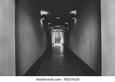 Black & White Hallway