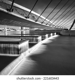 black and white Image of putrajaya dam located at Putrajaya is the fabulous place in malaysia to visit