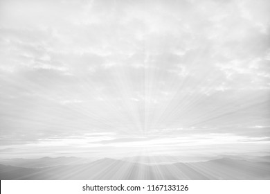 black and white image of sky and clouds - abstract background