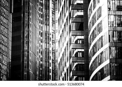 Black and White images of Commercial buildings