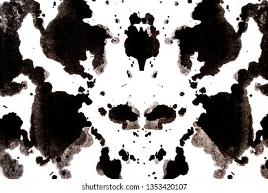 Black and White Ink Splatters and Spill
