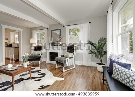 Black White Interior Luxury Living Room Stockfoto Jetzt Bearbeiten Cool Luxury Living Rooms Furniture Interior