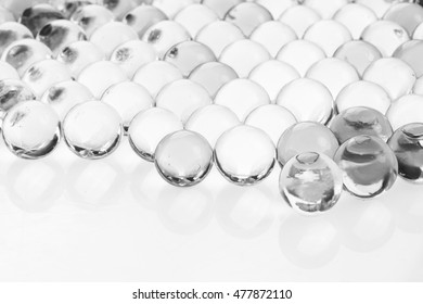Black and white jell on white background