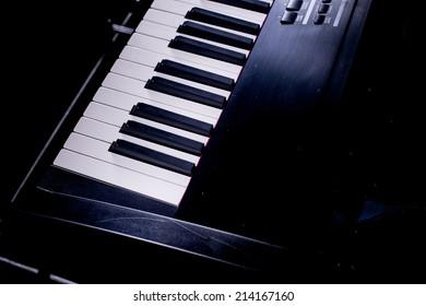 black and white keys on the piano,Piano keyboard,Piano