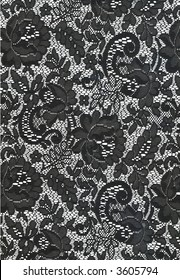 Black and White Lace Texture