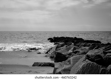 Black and White landscape, Backgroud of beach