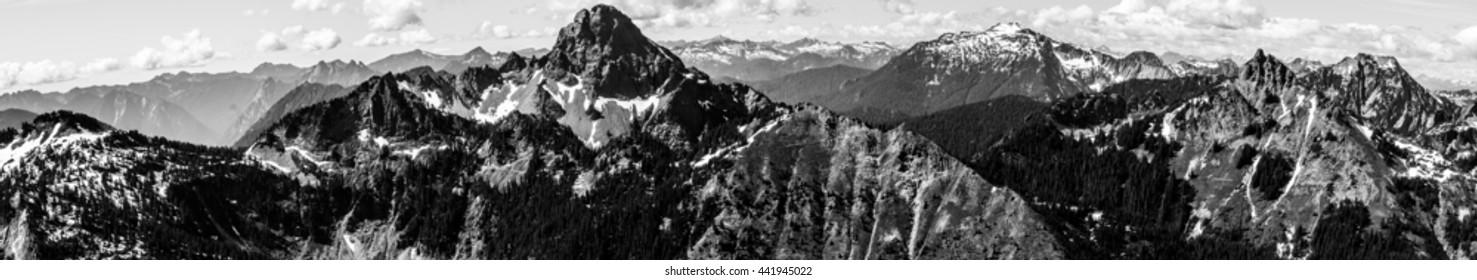 Black and White Landscape - Cascades