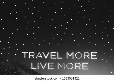 black and white lighting decoration travel more live more quote on wall