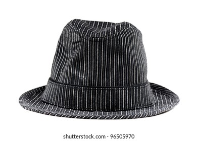 Black and White line pattern hat