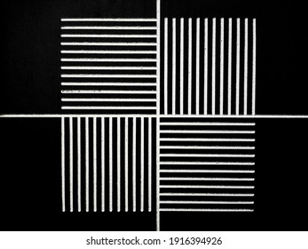 Black and white line, vertical and horizontal