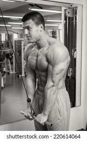 black and white man in the gym