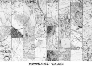 Black and white marble wall texture surface seamless for background