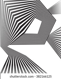 black and white mobious wave stripe optical abstract design jpeg version