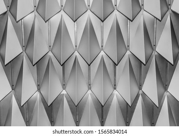 Black and white, monochrome texture of the ceiling in the hotel, abstraction, symmetry, background, geometry