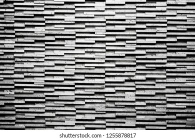 Black and white monotone brick wall for background , Dirty with vintage style.