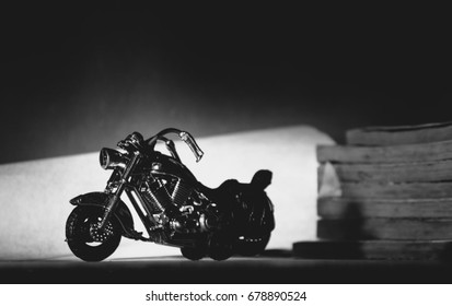 black and white motorcycle model