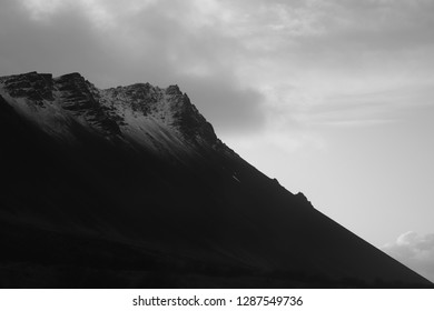 Black and white mountain. Taken in Iceland. Inspired by Ansel Adams.