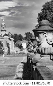 Black and white Am nuen Palais in Potsdam Germany