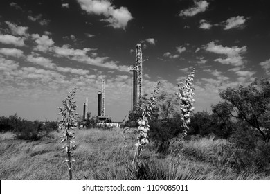 Black and white oil and gas exploration in the Permian Basin