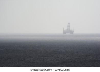 Black and white oil platform