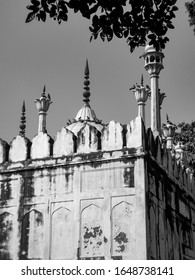 Black & White Old Architecture inside Red Fort in Delhi India, Famous Red Fort inside view