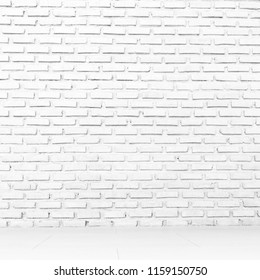 Black and white old brick wall texture background, tile pattern aged brickwork block, Abstract vintage wallpaper dark grunge paint color.