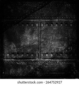 black and white old grunge textured paper, background texture for your message