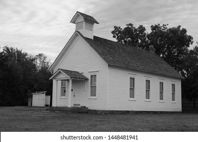 Black and White One Room School House