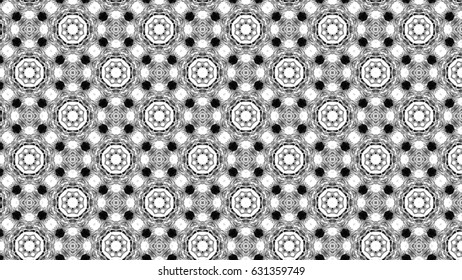 Black and white ornament for design and backgrounds. Seamless only up and down