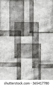 Black and white overlapping squares as background texture.