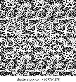 black and white pattern; black and white asymmetric seamless background, traditional turkish design